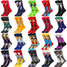 wholesale full custom cotton men colorful funny happy socks