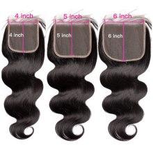5x5 Lace Closure Brazilian Body Wave Human Hair Tansparent HD Lace 13x6 Lace Frontal Closure cheveux humain