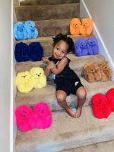 Kids Teddy bear slippers Hotsales Cute Cartoon Furry Teddy Bear Slippers For Kids Warm Soft Children House Shoes