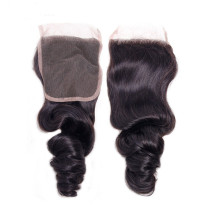 Brazillian human hair Loose Wave 4*4'' Lace Closure 发块