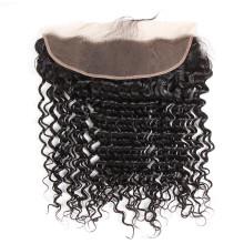 13*4 deep wave lace frontal Closure brazilian human hair