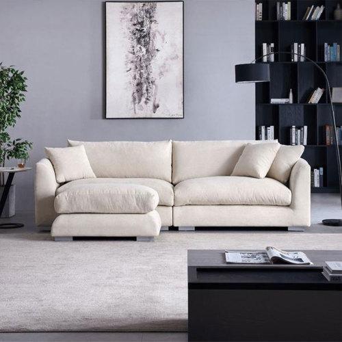 3~4 Seats Feather Sofa + Ottoman
