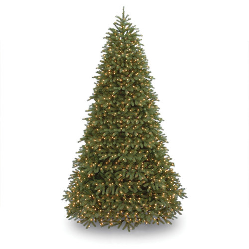9' H Size Jersey Fraser Green Fir Christmas Tree with Clear/White Lights