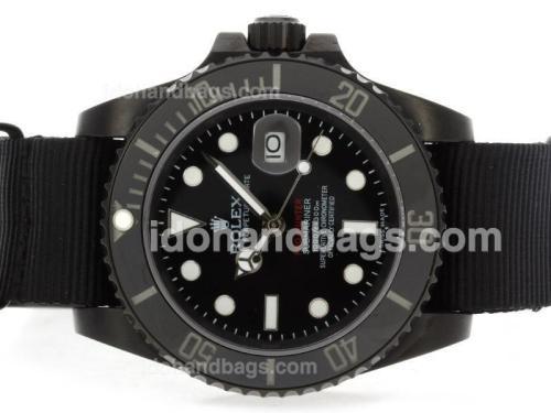 Rolex Submariner Pro-Hunter Edition Automatic PVD Case with Nylon Strap-Ceramic Bezel 41116