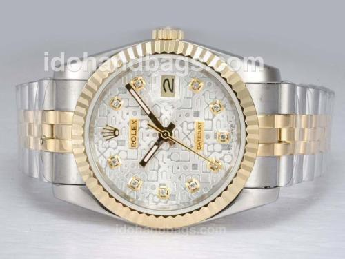 Rolex Datejust Automatic Two Tone with Diamond Marking-Computer Dial 11887