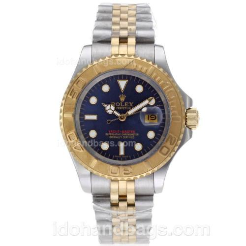 Rolex Yacht-Master Automatic Two Tone with Blue Dial 61765