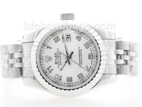 Rolex DateJust Automatic with White Dial S/S - Arabic Marking 34823