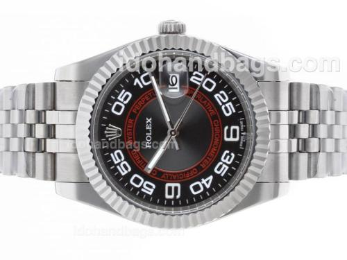Rolex Datejust II Automatic Number Markers with Black Dial S/S-New Version 48488