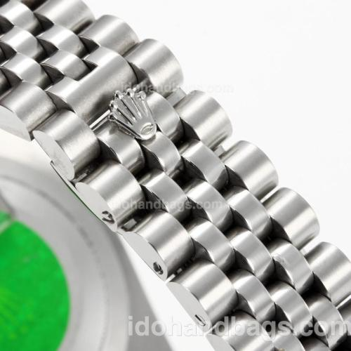 Rolex DateJust II Automatic with Silver Dial S/S-Diamond Markers 167730