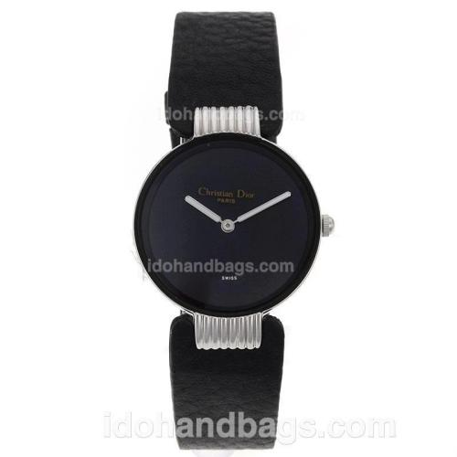 Dior Classic Black Dial with Leather Strap-Lady Size 69787