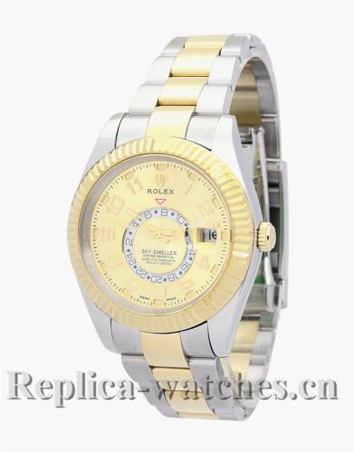 Rolex Sky-Dweller Gold Dial 42MM 326938