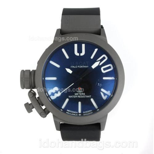 U-Boat Italo Fontana Automatic Titanium Case with Dark Blue Dial-White Markers 167076