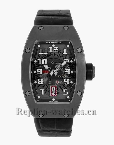 Replica Richard Mille Black Titanium Case Watch RM007