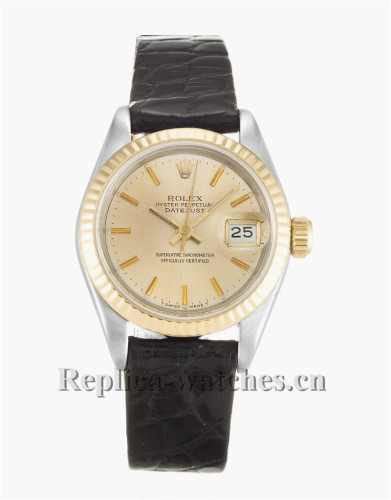 Rolex Datejust Lady Gold Dial 26MM 69173
