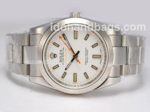 Rolex Milgauss Swiss ETA 2836 Movement with White Dial 10626
