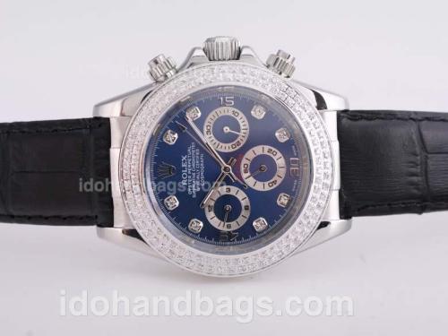 Rolex Daytona Automatic Blue Dial with Diamond Bezel and Marking 25669