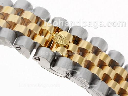 Rolex Datejust II Automatic Two Tone Number Markers with White Dial-New Version 48540