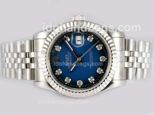 Rolex Datejust Automatic Diamond Markings with Blue Dial 15175