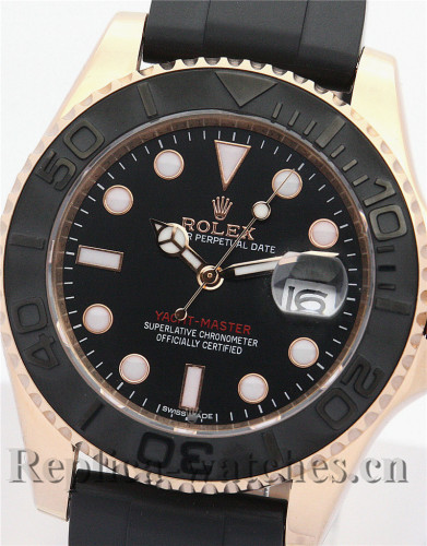 Rolex Yacht-Master Black Rubber Strap 116655