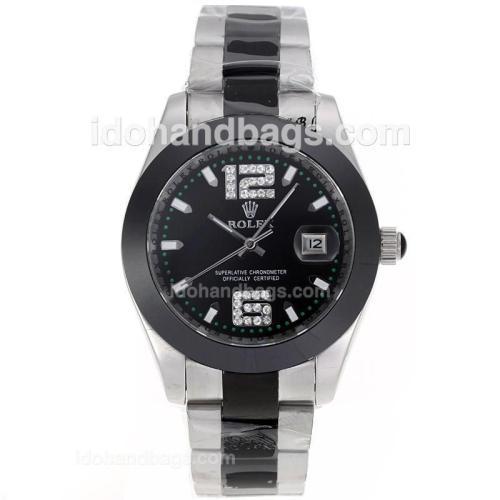 Rolex Datejust II Automatic Ceramic Bezel with Black Dail -Ceramic Strap 80717
