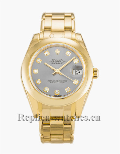 Rolex Pearlmaster Gray Dial 31MM 81208