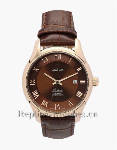 Omega De Ville Hour Vision Automatic Movement Gold Bezel 41 MM