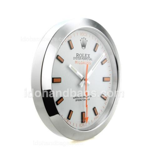 Rolex Milgauss Wall Clock with White Dial S/S 182450