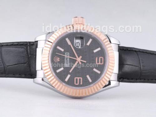 Rolex Datejust Automatic Two Tone Case with Black Dial-39mm New Version 27598