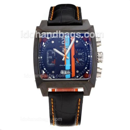 Tag Heuer Monaco Twenty Four Concept Working Chronograph PVD Case with Black Dial-2009 New Version 32837