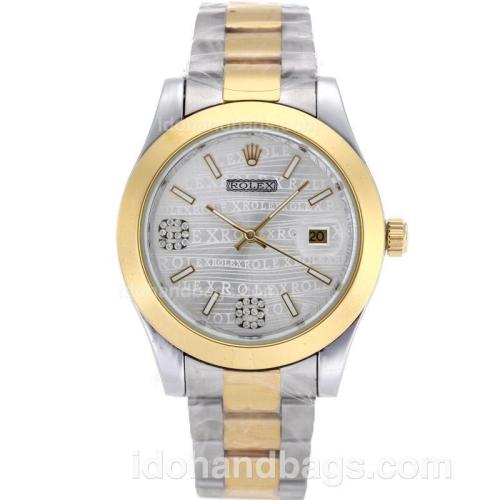 Rolex Datejust II Automatic Two Tone with Silver Rolex Watermark Dial 87814