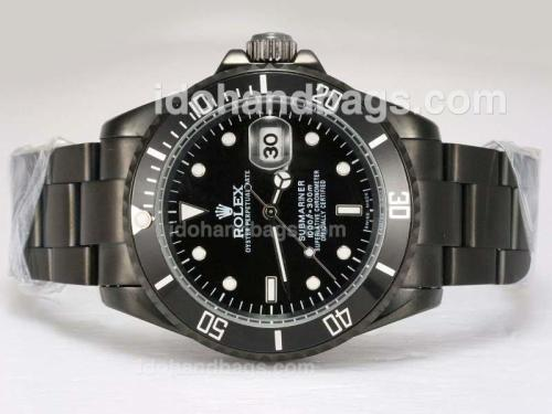 Rolex Submariner Automatic Full PVD with Black Dial(Gift Box is Included) 11664