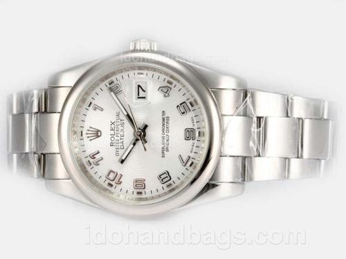 Rolex Datejust Automatic with White Dial-Number Marking 18070