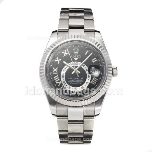 Rolex Sky Dweller Automatic with Black Dial S/S-Sapphire Glass 187672