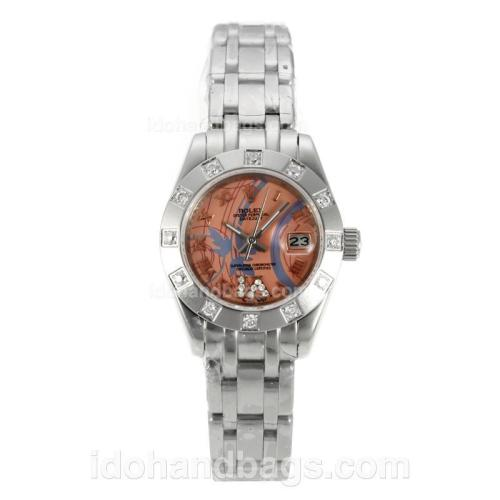 Rolex Masterpiece Automatic Diamond Bezel with Pink Dial S/S-Sapphire Glass 125514