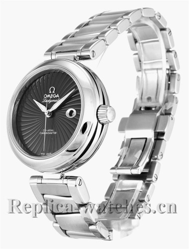 Omega De Ville Ladymatic Stainless Steel Strap Black Dial 34MM 425.30.34.20.01.001