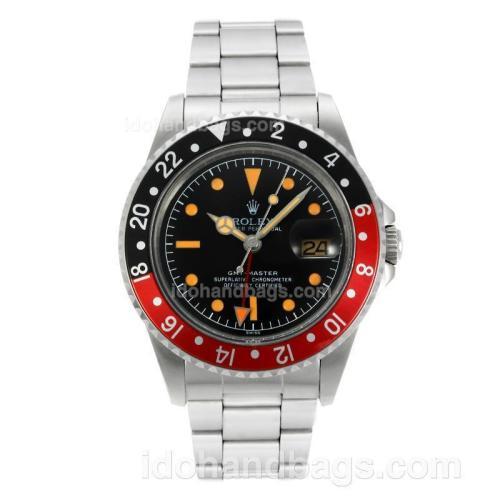 Rolex GMT-Master Swiss ETA 2836 Movement Orange Markers with Black Dial S/S-Vintage Edition 126800