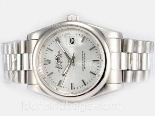 Rolex Datejust Automatic with Silver Dial 18069