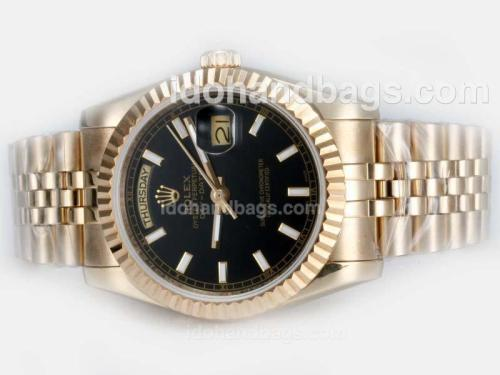 Rolex Day-Date Automatic Full Gold with Black Dial 20660