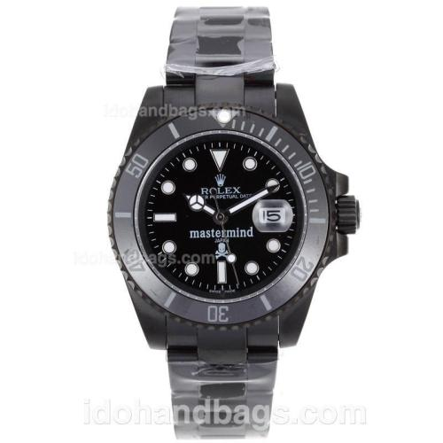 Rolex Submariner Mastermind Japan Automatic Full PVD Ceramic Bezel with Black Dial 62014