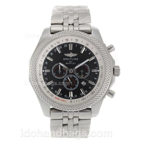 Breitling for Bentley Automatic with Black Dial S/S 118126