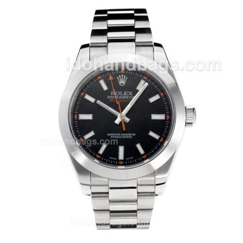 Rolex Milgauss Swiss ETA 3131 Movement with Super Luminous Black Dial S/S-Sapphire Glass 187052