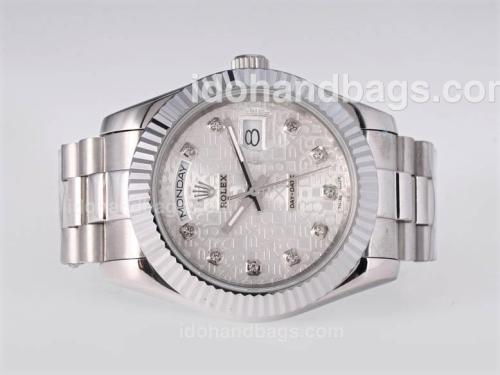 Rolex Day-Date II Automatic Diamond Marking with Computer Dial-41mm New Version 25389