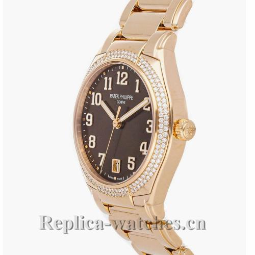 Patek Philippe Replica Twenty 4 Rose Gold Brown Dial 36MM Watch 73001200A010