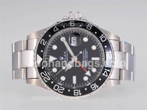 Rolex GMT-Master II Automatic with Black Dial-New Style Oyster Bracelet-Updated 24908
