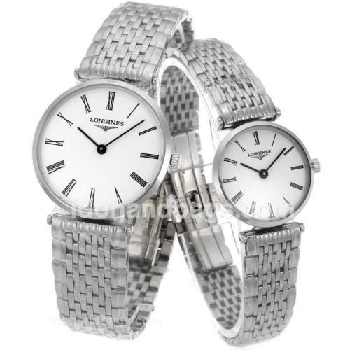 Longines La Grande Classique Swiss ETA Movement with White Dial S/S-Couple Watch 68209