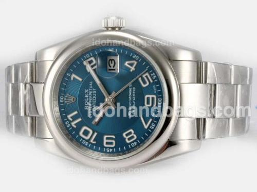 Rolex Datejust Automatic with Blue Dial-Number Marking 18199