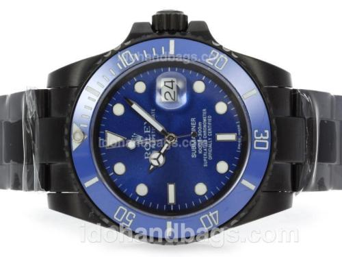 Rolex Submariner Automatic Full PVD with Blue Dial and Ceramic Bezel 41113