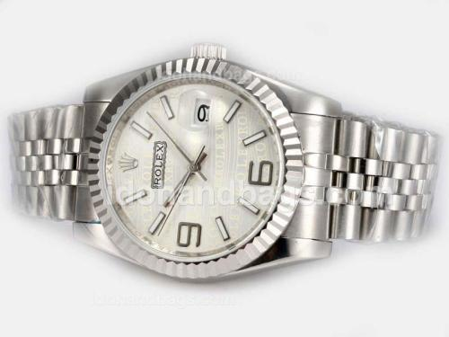Rolex Datejust Automatic 2008 New Design Insignia White Dial 19294