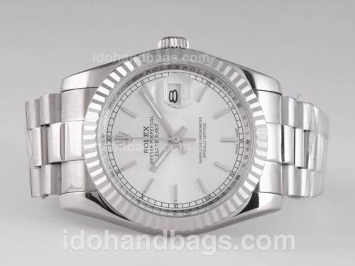 Rolex Datejust Automatic with White Dial 25941