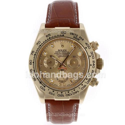 Rolex Daytona Automatic Gold Case with Golden Dial 12949